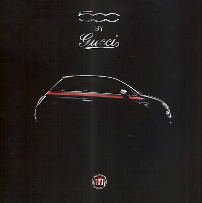 """FIAT 500 """"GUCCI"""" - special edition - 2012 - French sales brochure, catalogue"""
