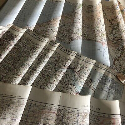 Collection Job Lot WW2 Military Edition Maps North Midlands Lincolnshire Wales