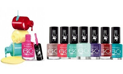 Rimmel 60 Second Nail Polish Pack Of 8 Assorted Shades