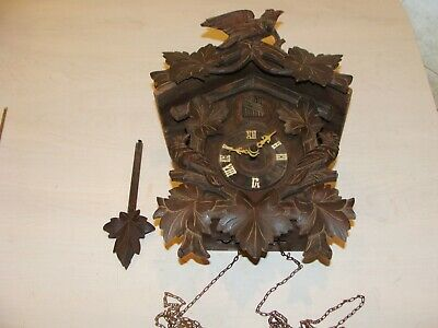 Antique Black Forest Cuckoo Clock From The 1800'S