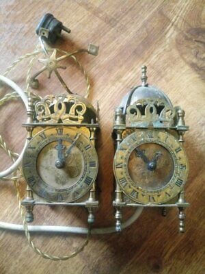 Vintage Smiths Brass Domed Lantern electric clocks Spares/Repair  x TWO