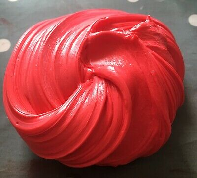 Red Fluffy Slime Floam Putty Toy Free Activator UK Seller Free Activator