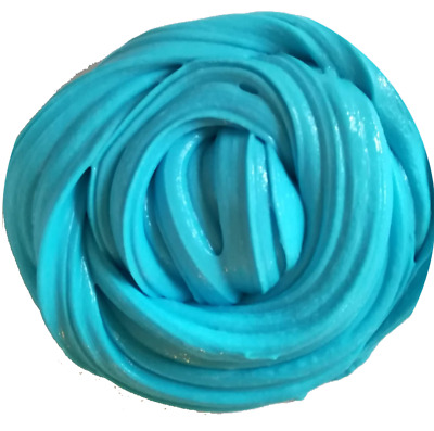 Turquoise  Fluffy Slime Floam Putty Toy Free Activator UK Seller Free Activator