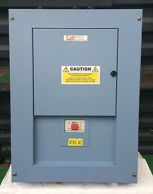 Federal Electric 3 Phase Distribution Board 415V AC