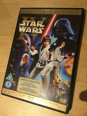 Star Wars Episode Iv A New Hope Uk Dvd 2 Disc Original Theatrical And Remastered