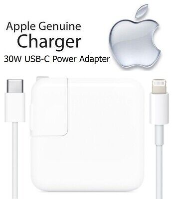 Apple iPad Pro 12.9-inch 2nd Gen - 30W USB-C Fast Charging Power Adapter & Cable