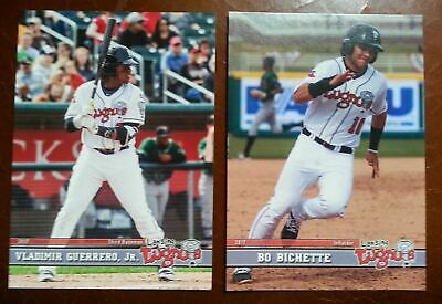 2017 Lansing Lugnuts RCS OUT OF THE TEAM SET VLADIMIR GUERRERO, JR & BO BICHETTE