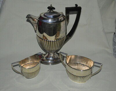 A1 WALKER & HALL SILVER PLATED BACHELOR COFFEE SET CIRCA 1900-1920's