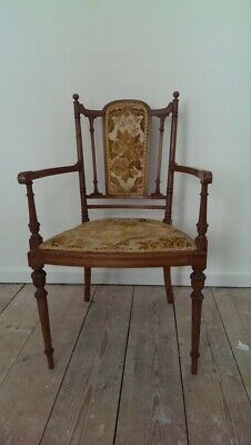 Antique ? Victorian ? Oak ? Old Dining Chair Carver Chair Lovely Looking Detail