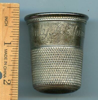 "Vintage Sterling Silver ""only A Thimble Full""  Shot Glass - 38.8 Grams"