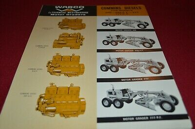 Cummins Engines For Wabco Motor Graders For 1964 Dealers Brochure AMIL15