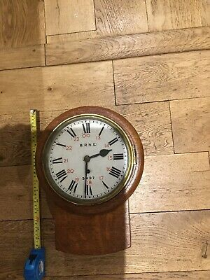 British Rail (N.E) ANTIQUE STATION CLOCK WITH KEY
