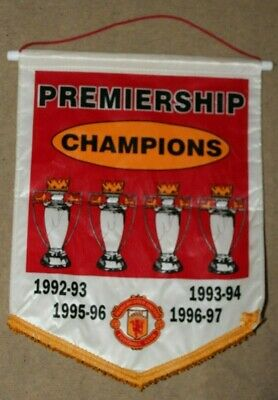 Large Manchester United Football Pennant  Premier League Champions .