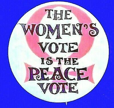 1971 March on Washington and San Francisco  THE WOMEN'S VOTE IS THE PEACE VOTE