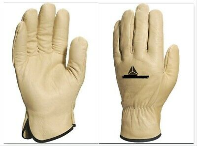33% OFF!! Beige HGV Drivers Fork Lift Truck Gardening Leather Work Safety Gloves