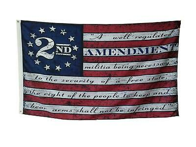 Second 2nd Amendment Vintage American Flag Banner USA Second 2A 3X5FT US shipper