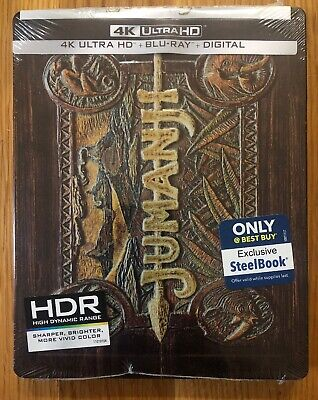 JUMAMJI (4K UHD + Blu-Ray + Digital HD) Steelbook BRAND NEW, FACTORY SEALED