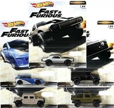 Hot Wheels 2019 PRE-ORDER Set OF 5 FAST AND FURIOUS RELEASE D  ETA SEPT./OCT.