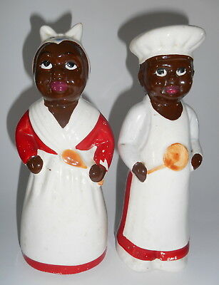 LARGE Retro, Vintage, Antique, Collectable Mammy & Pappy Salt & Pepper Shakers