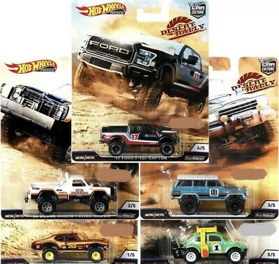 Hot Wheels IN-HAND  CAR CULTURE 2019 DESERT RALLY Set Of 5 AWESOME!