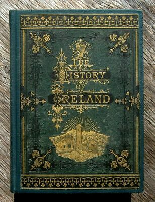 IRELAND IRISH HISTORY Antique 1871 War Kings Castles Pagan Catholic Protestant