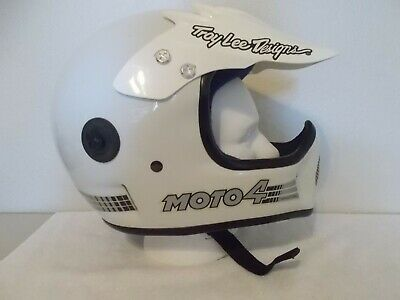 Vintage BELL MOTO 4 Helmet with Troy Lee Designs VISOR