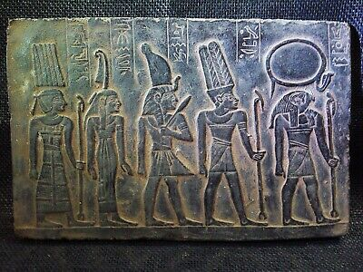 EGYPTIAN ANTIQUE ANTIQUITY Amon Ra Goddess Stela Stele Stelae 1278-1242 BC