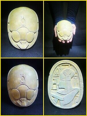 EGYPTIAN ANTIQUE ANTIQUITY Scarab Beetle Khepri Figure Sculpture 1549-1162 BC