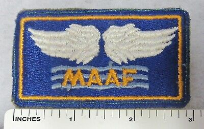 WW2 Vintage US ARMY AIR FORCE MAAF Shoulder PATCH Cut Edge Original USAAF