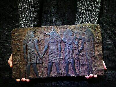 EGYPTIAN ANTIQUE ANTIQUITIES Bearing Gifts for Isis Stela Stele 1213-1279 BC