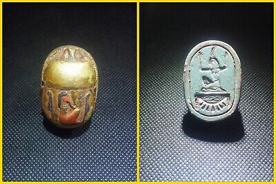 EGYPTIAN ANTIQUE ANTIQUITIES Scarab Beetle Khepri Figure Sculpture 1549-1143 BC