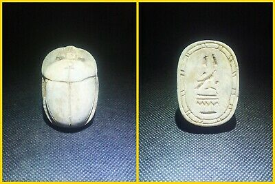 EGYPTIAN ANTIQUE ANTIQUITIES Scarab Beetle Khepri Figure Sculpture 1549-1176 BC