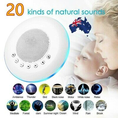 USB Deep Sleep Machine White Noise Baby Therapy Solution 20 Peace Nature Sound M