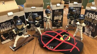 ALL 6 Milwaukee Brewers bobbleheads From 2019 SGA