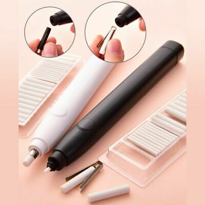 Electric Pencil Eraser &20pcs Refills for Kids Sketch Drawing Stationery Office