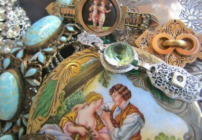 Antique Vintage mixed jewelry lot Victorian gold filled Art Deco Sterling n more