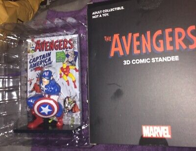 THE AVENGERS 3D Comic Standee CAPTAIN AMERICA Collectible Lootcrate Rare W/Box
