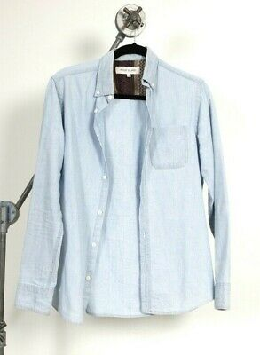 RIVER ISLAND denim long sleeve button shirt with pocket - size XS