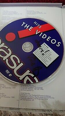 Signed by vince.     Erasure - Hits! - The Very Best Of (DVD, 2013, 2-Disc Set)