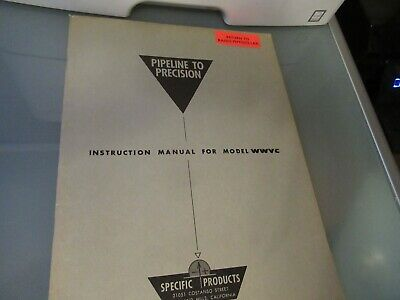 Vintage Manual Specific Products Wwvc Frequency Standard As Pictured