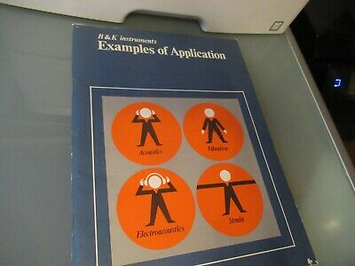 Vintage Manual Bruel Kjaer Examples Applications As Pictured