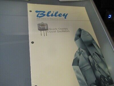 Vintage Brochure C/Ar Bliley Electric Quartz Crystal Frequency Control As Pictur