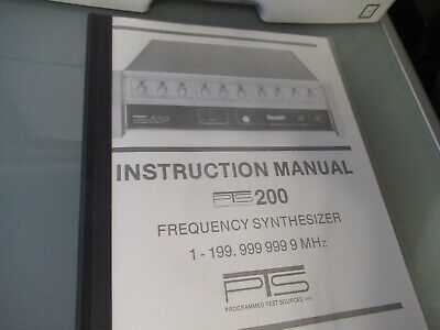 VINTAGE MANUAL PTS 200 OSCILLATOR FREQUENCY SYNTEHSIZER MHz AS PICTURED
