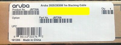 J9735A - HPE Aruba 1m Stacking Cable for Aruba 2920/2930M NEW FACTORY SEALED