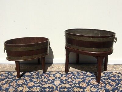 Pair of 19th English Planters *Georgian style* Pot Holder on Stand* Jardinieres