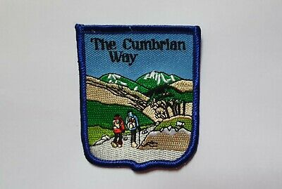 THE CUMBRIAN WAY Cumbria Lake District EMBROIDERED PATCH BADGE A427