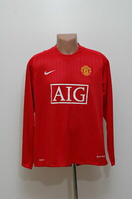 Manchester United 2007/2008/2009 Home Football Shirt Jersey Nike Long Sleeve