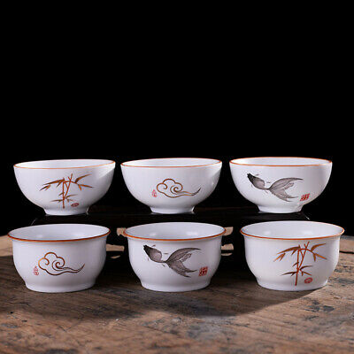 Creative Ceramic Tasting Tea Cup Matte White Chinese Kung Fu Teacup Small Bowl