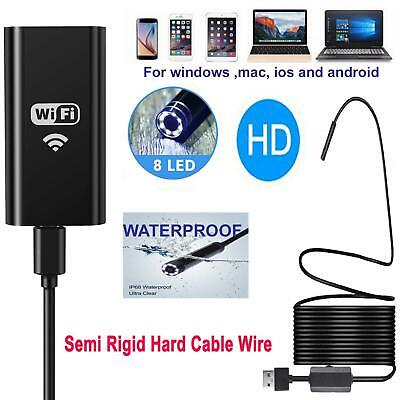 WIFI Endoscope Wireless Borescope HD 1200P Inspection Camera For Android iPhone