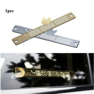Car Styling Sticker Temporary Parking Card  Phone Number Plate  Parking plate